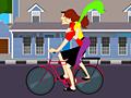 Игра Поцелуи на велосипеде