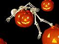 Игра Хэллоуин падающий скелет
