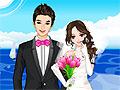 Игра Одевалка свадьба в море