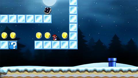 Игра Зимний Супер Марио