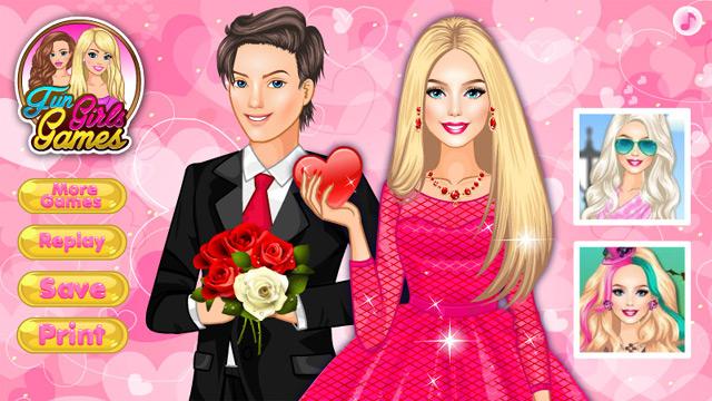 Игра Свидание Барби в день Святого Валентина